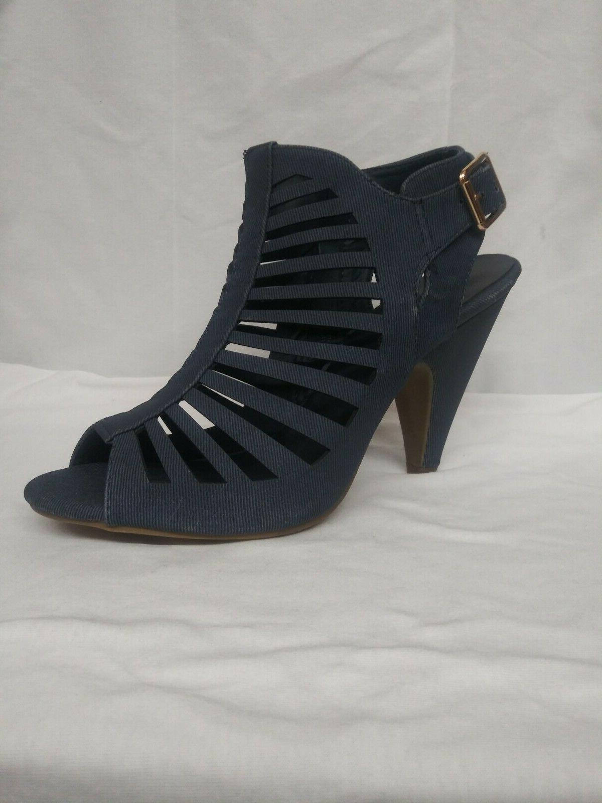 woman s navy blue suede wedges size