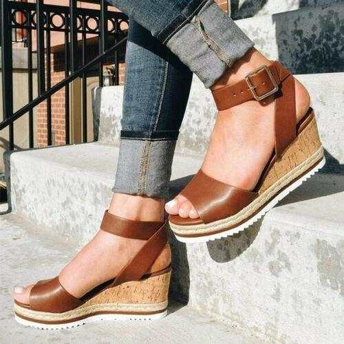 Womens Wedge Sandals Ladies Espadrilles Shoes