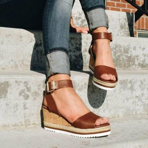 Womens Platform Sandals Ladies Espadrilles
