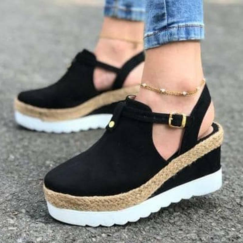 Women Wedge Sandals Mid Casual Size