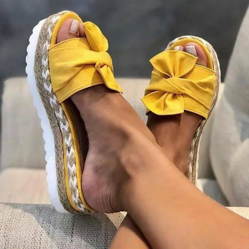 Women Wedge Espadrilles Mules Beach