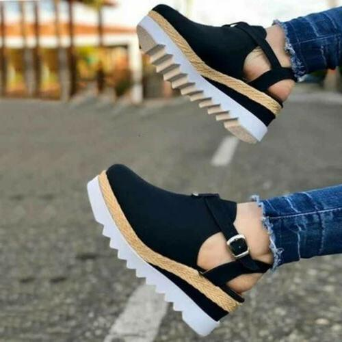 Womens Summer Wedge Espadrille Ankle