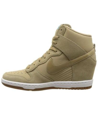 Women Dunk Sky Hi Essential Lace Wedge Sneakers Suede Camo 644877