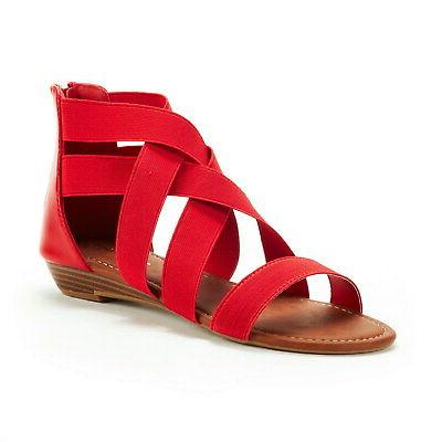DREAM PAIRS Fashion Gladiator Ankle Wedges Open Toe Flat Sandals