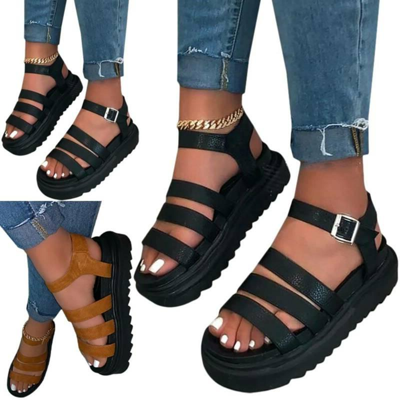 Womens Wedge Slide Comfy Summer