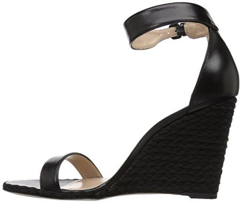 Stuart Wedge Sandal, Black 7.5 US