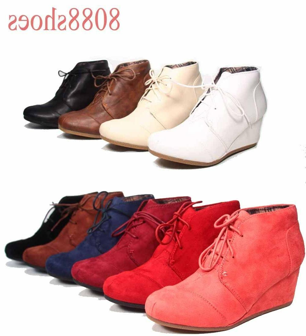 Women's Booties Wedge Shoes - 10 NEW