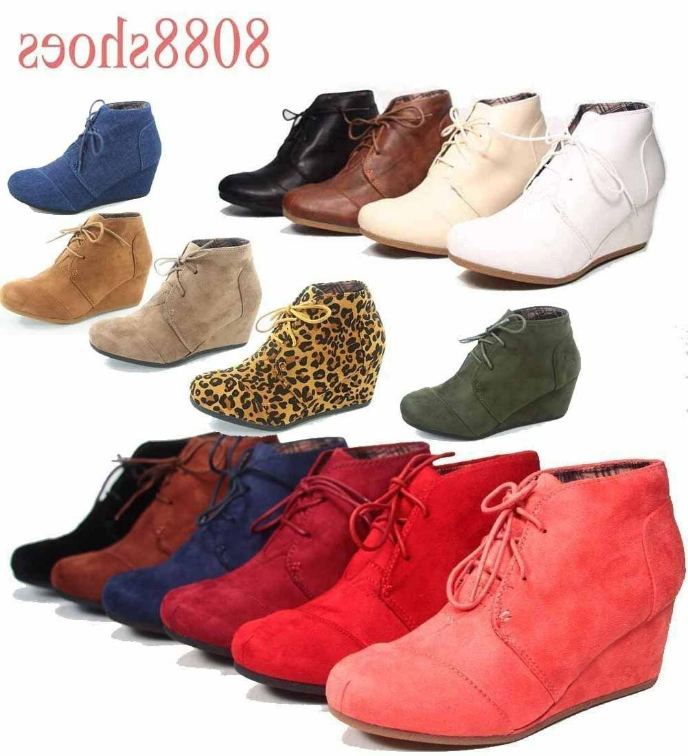 women s casual oxford ankle booties lace