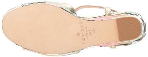 Kate Spade New Women's DARIE Wedge Gold, 8 M
