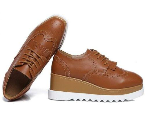 DADAWEN Square-Toe Lace-up Oxford Shoes