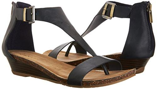 Kenneth REACTION Gal Wedge Navy, 8.5 US