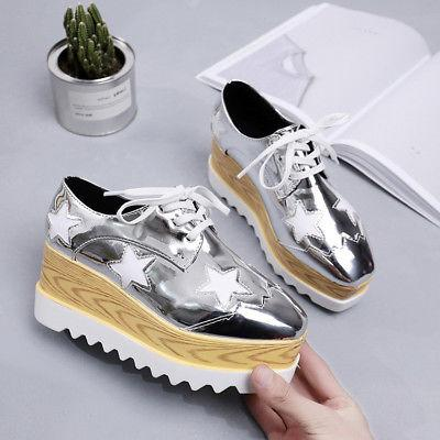 Women's High Wedge Shoes Leather