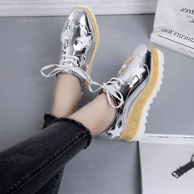 Women's High Wedge Sneakers Lace