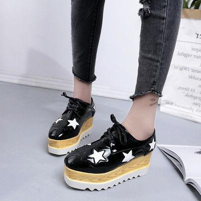 Women's High Wedge Lace Shoes