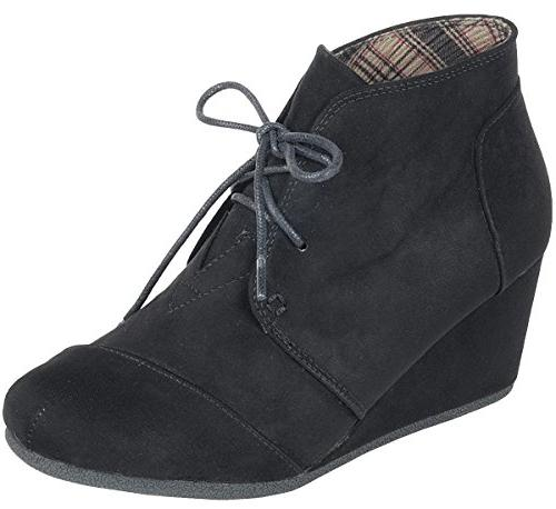 Up Wedge Ankle Bootie