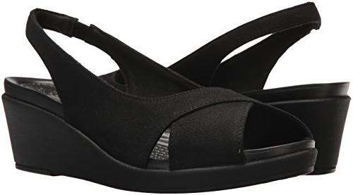 Crocs Women's Leigh Ann Slingback Black, 9 M US