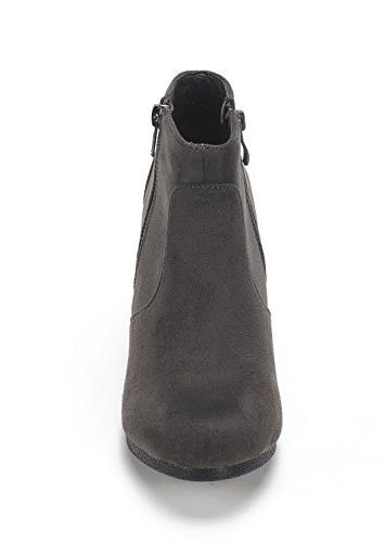DREAM PAIRS NARIE-New Grey Suede Wedges M US