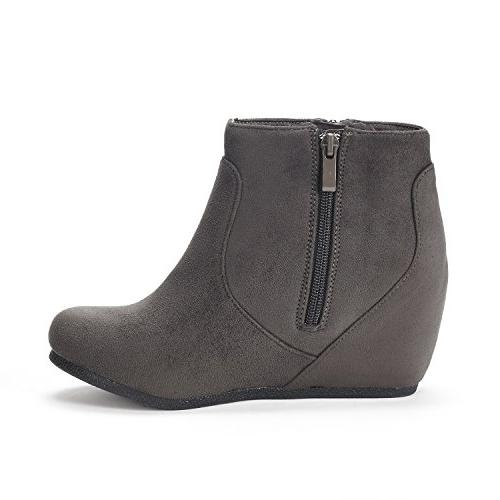 Grey Suede Ankle M