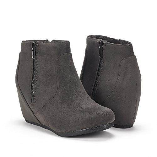 DREAM Grey Wedges Ankle Boots 10