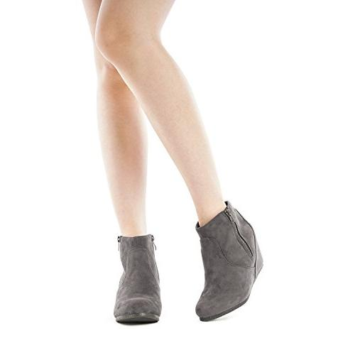 DREAM NARIE-New Grey Ankle Boots 10 M