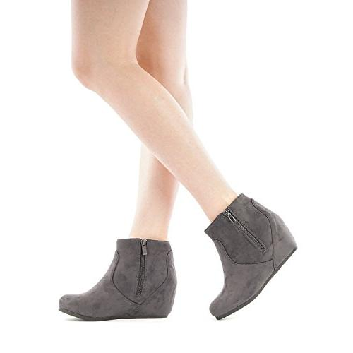 DREAM PAIRS Women's Grey Ankle Boots M US