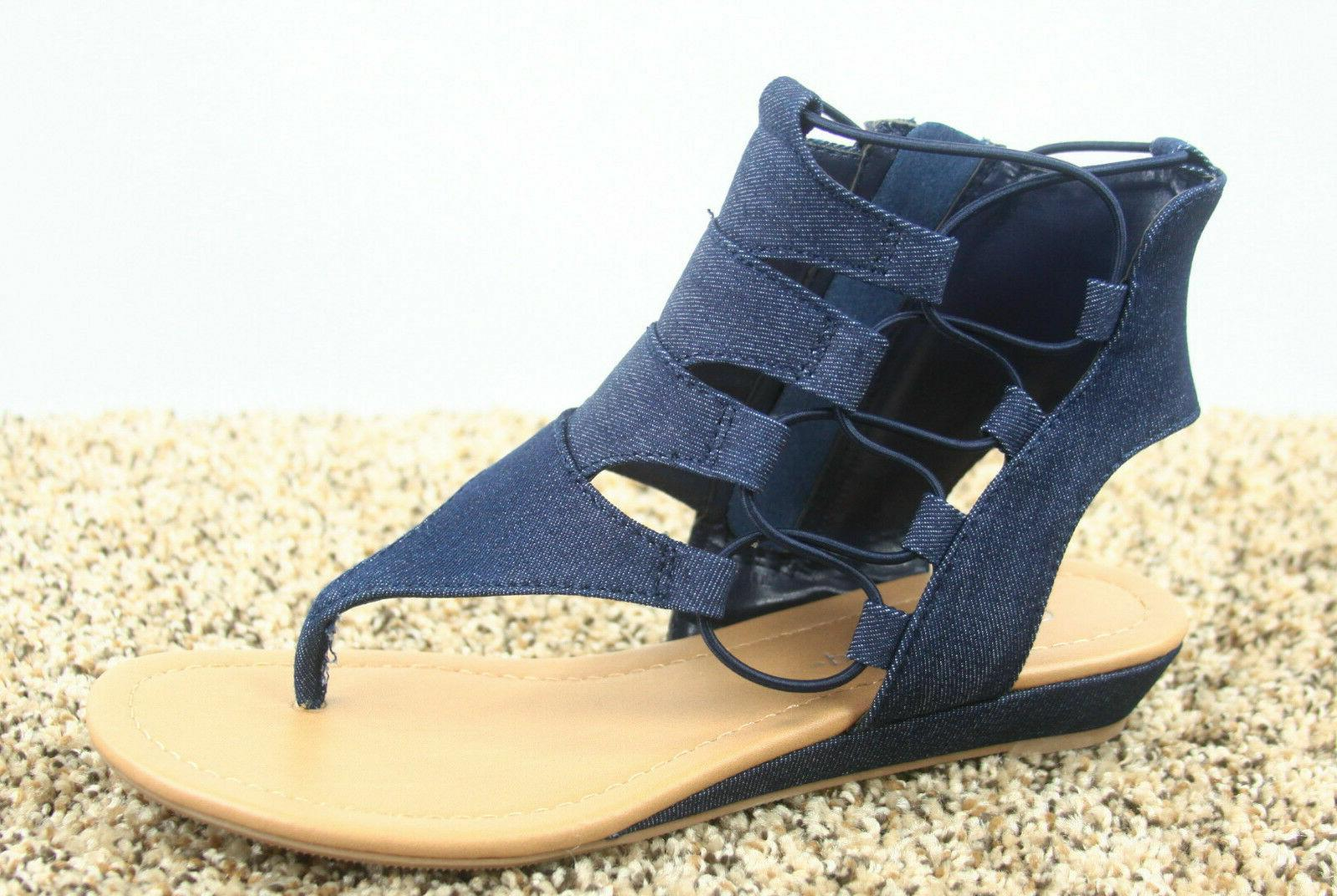 Women's Toe Strappy Sandal Shoes Size