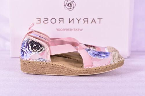 Women's Printed Satin Wedges, Cameo Blush