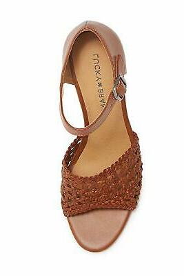 Woven Leather Sandals Macaroon