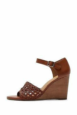 Woven Burnished Wedge Sandals