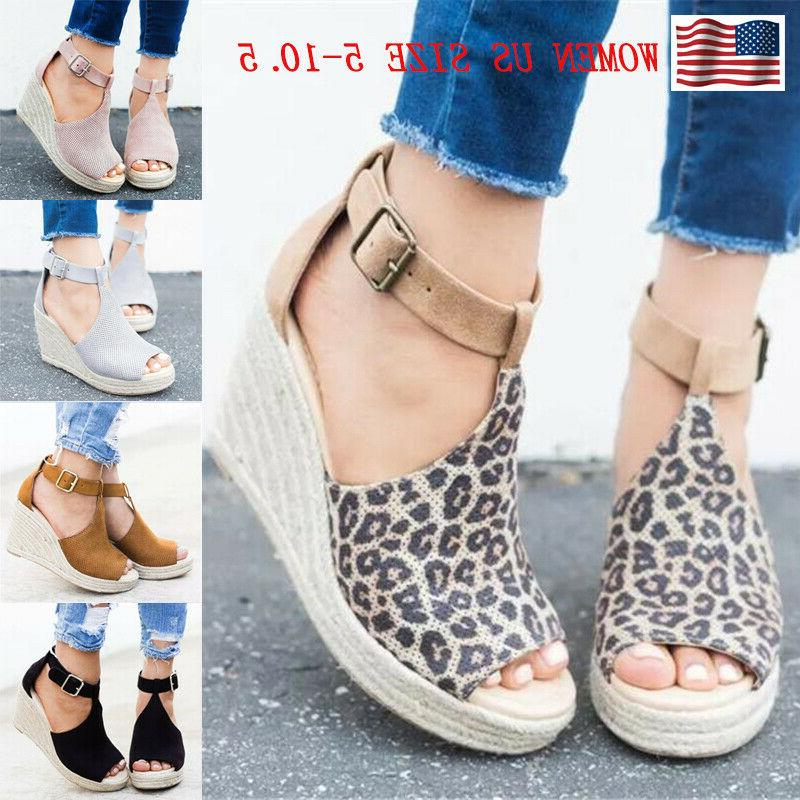 women s sandals wedge heels ankle strap