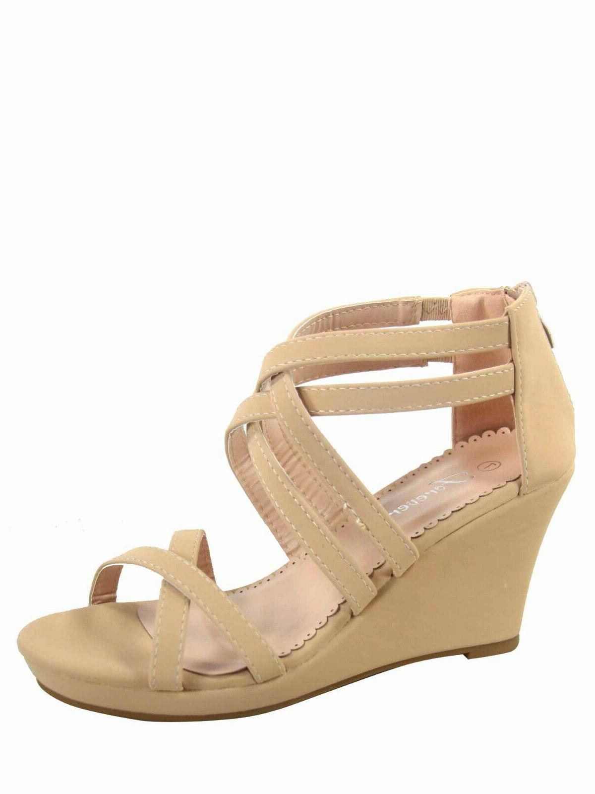 Women's Zipper Ankly Strap Buckles Sandal Shoes Size 5 10 NEW
