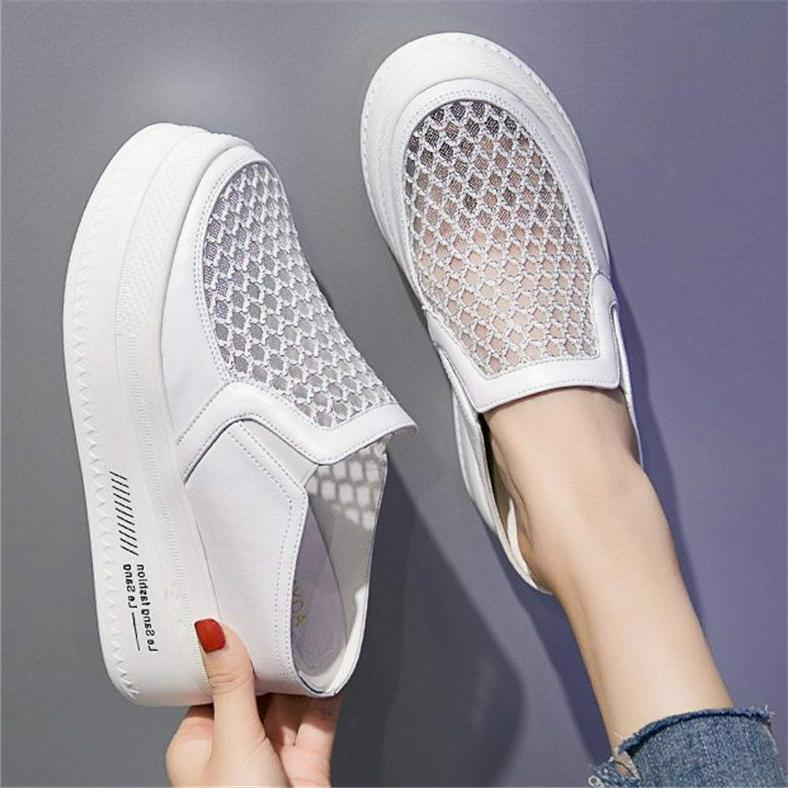 Women's Summer Fashion Sneaker Platform Wedge Heel Slippers