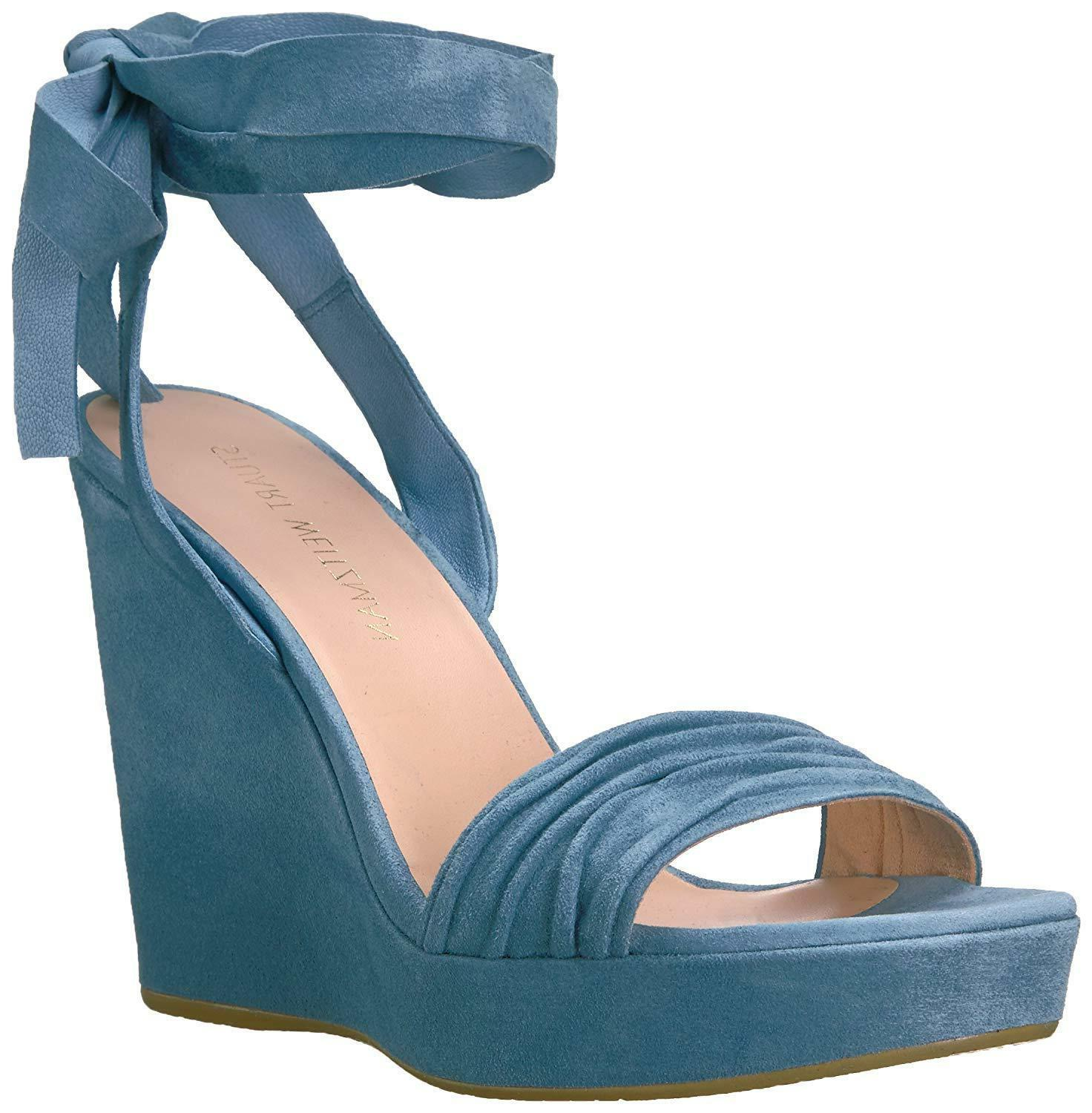 Stuart Weitzman Women's Wedge Sandal Lt Jeans Color 8M US