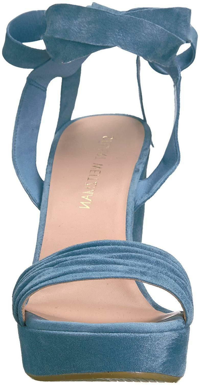 Stuart Wedge Sandal Blue Jeans Color US