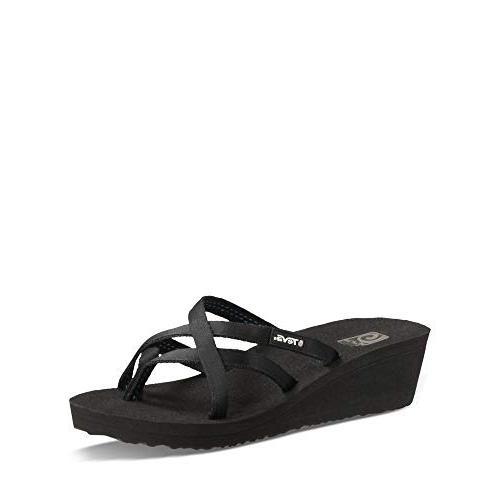 Teva Women's W Mandalyn Wedge Ola Flip-Flop, Black, US