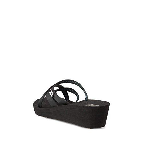 Teva Women's W Mandalyn Wedge Ola Flip-Flop, Black, 7 US
