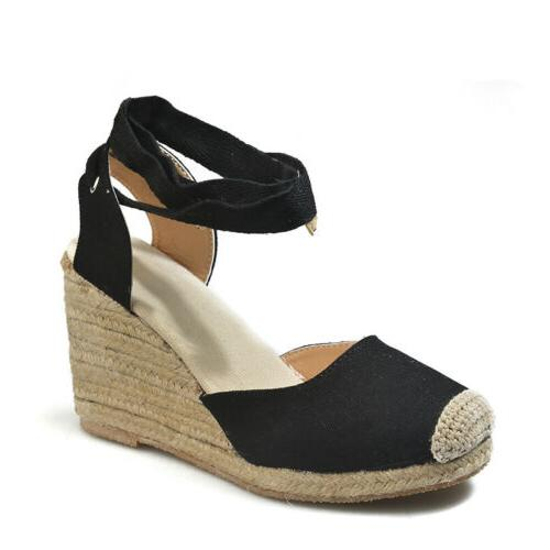 Women Summer Wedge Platform Heel Pumps Lady