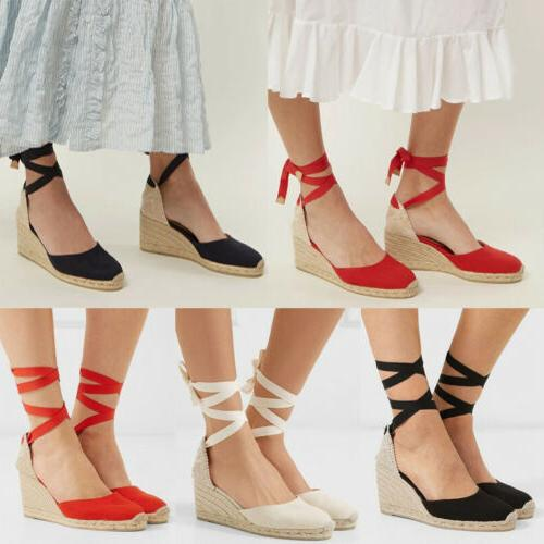 Women Sandals Summer Platform Slingback Pumps Lady
