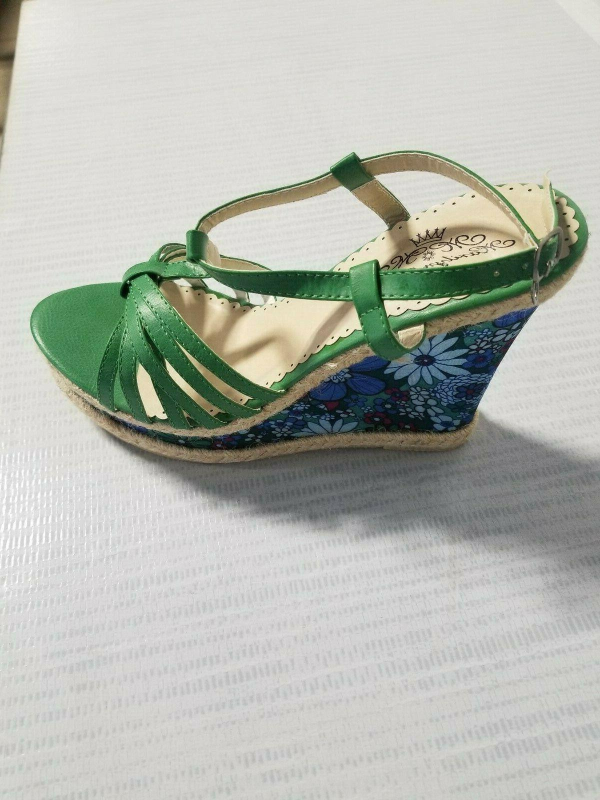 Womens Ankle Buckle Sandals Wedge Summer Size
