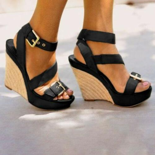Womens Buckle Sandals