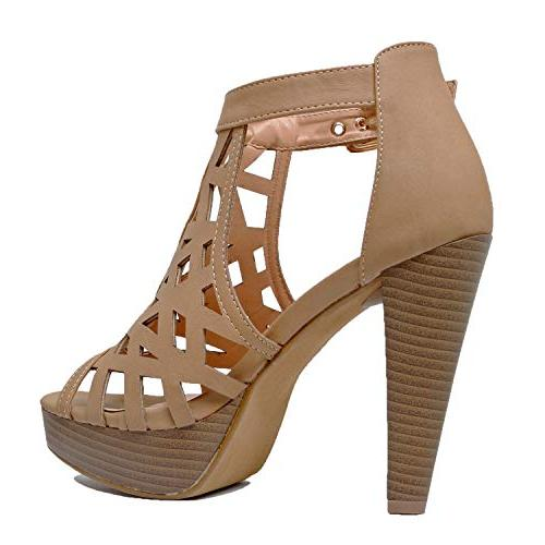 Cutout Platform High Heel Sandals Sandals, Pu,