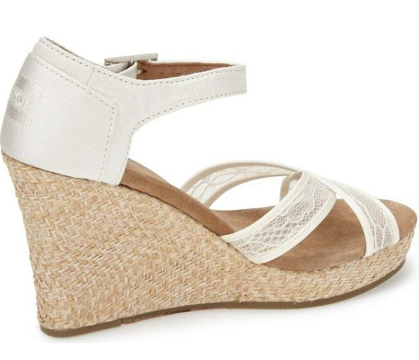 TOMS Womens Grosgrain Wedding Sandals 12