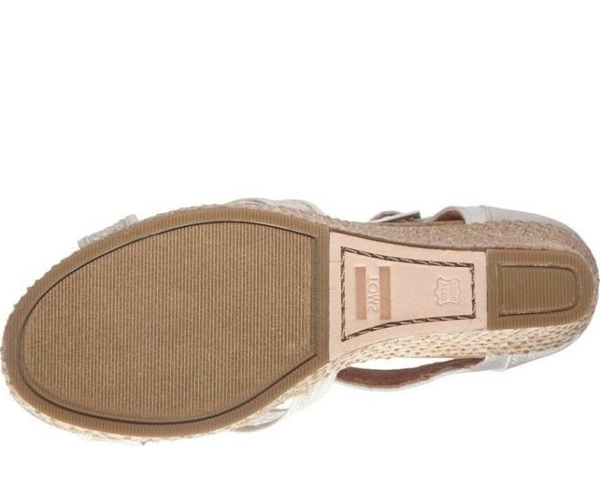 TOMS Womens Grosgrain Wedge Sandals 12
