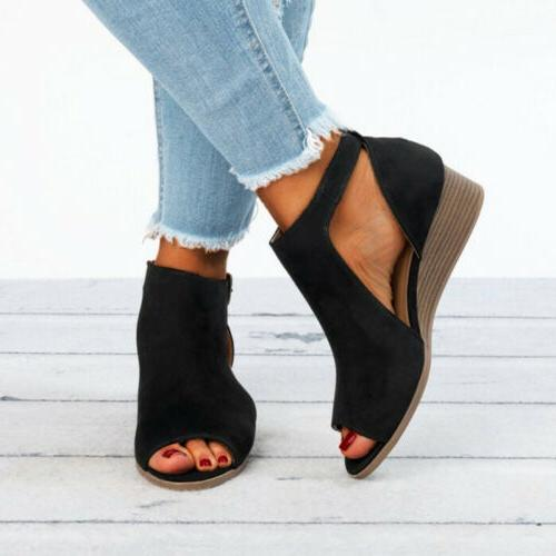 Wedge Buckle Ankle Strap Size 5-10
