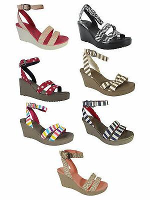 womens leigh graphic wedge open toe shoes