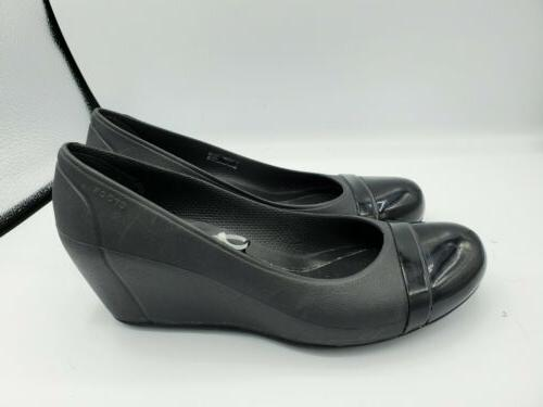 womens lina black wedge closed toes heels