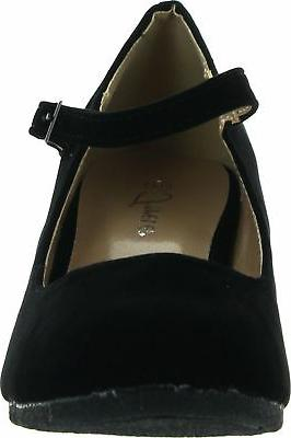 Forever Mary Jane Strap Faux Suede