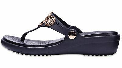 Crocs Womens Embellished Diamante Wedge