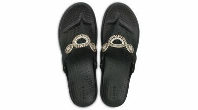 Crocs Sanrah Diamante Flips
