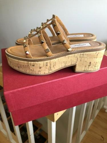 Valentino Stud Tan Platform Shoes 6